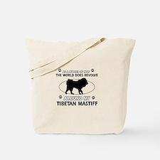 Tibetan Mastiff dog funny designs Tote Bag