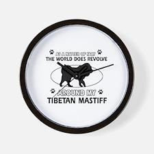 Tibetan Mastiff dog funny designs Wall Clock