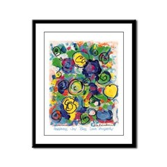 Happiness and Joy Framed Panel Print