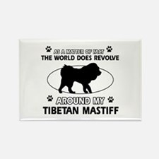 Tibetan Mastiff dog funny designs Rectangle Magnet