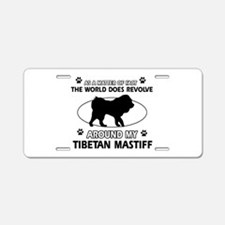 Tibetan Mastiff dog funny designs Aluminum License