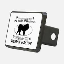 Tibetan Mastiff dog funny designs Hitch Cover