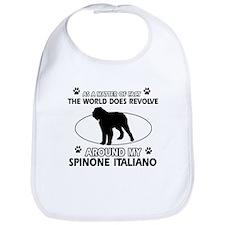 Spinone Italiano dog funny designs Bib