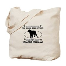 Spinone Italiano dog funny designs Tote Bag