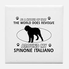 Spinone Italiano dog funny designs Tile Coaster