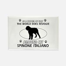 Spinone Italiano dog funny designs Rectangle Magne