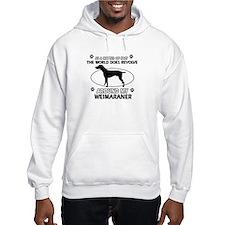 Weimaraner dog funny designs Hoodie