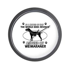 Weimaraner dog funny designs Wall Clock