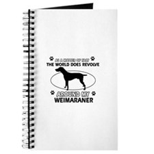Weimaraner dog funny designs Journal