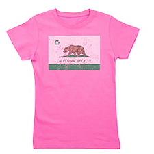 California Recycle Flag Girl's Tee
