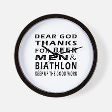 Beer Men and Biathlon Wall Clock
