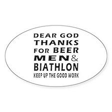 Beer Men and Biathlon Decal