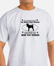 Wire Fox Terrier dog funny designs T-Shirt