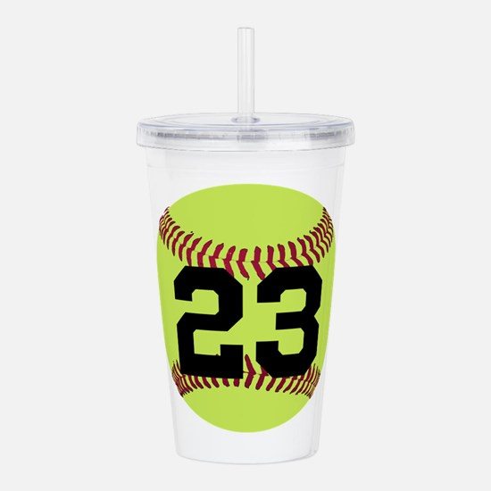 Softball Number Person Acrylic Double-wall Tumbler