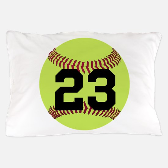 Softball Number Personalized Pillow Case