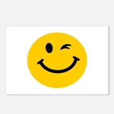 Winking smiley face Postcards (Package of 8)