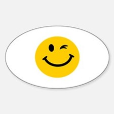 Winking smiley face Decal