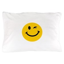 Winking smiley face Pillow Case