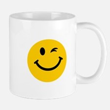 Winking smiley face Small Mug