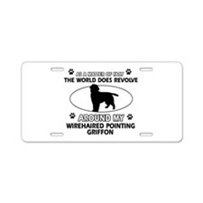 Wirehaired Pointing Griffon dog funny designs Alum