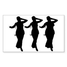 3 dancers Rectangle Decal