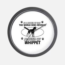Whippet dog funny designs Wall Clock
