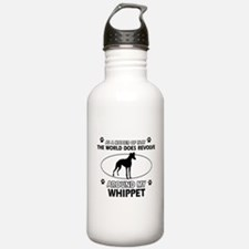 Whippet dog funny designs Water Bottle