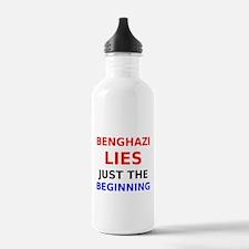 Benghazi Lies Just the Beginning Water Bottle
