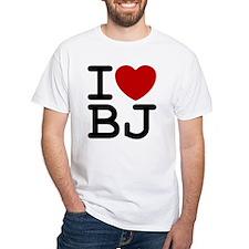 I Heart BJ Mens Ash Grey T-Shirt