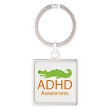ADHD Awareness (Alligator) Square Keychain