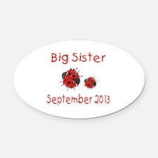 Big Sister Ladybug 0913 Oval Car Magnet