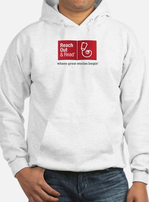 Reach Out And Read Gray Or White Hoodie