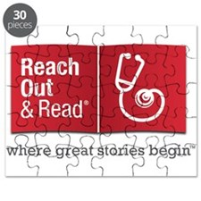 Reach Out and Read with Gray Tagline Puzzle