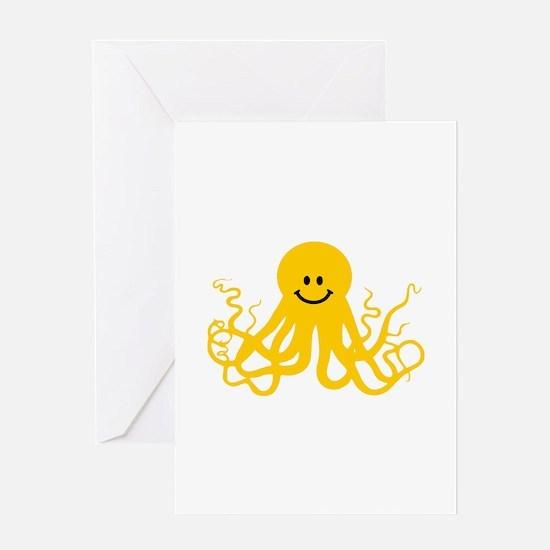 Octopus / Kraken Smiley Greeting Card