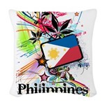 Philippines Woven Throw Pillow