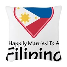 Happily Married Filipino Woven Throw Pillow