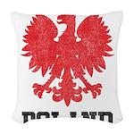 Vintage Poland Woven Throw Pillow