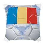 Romania Soccer Woven Throw Pillow