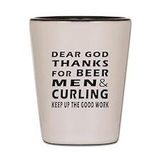 Beer Men and Curling Shot Glass