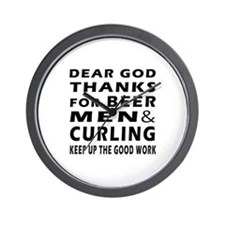 Beer Men and Curling Wall Clock
