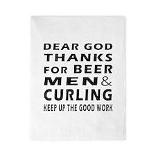 Beer Men and Curling Twin Duvet