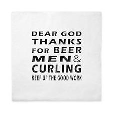 Beer Men and Curling Queen Duvet