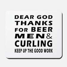 Beer Men and Curling Mousepad
