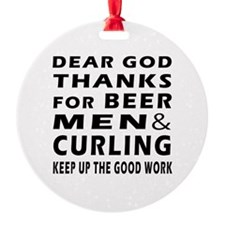 Beer Men and Curling Ornament