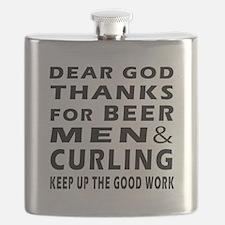 Beer Men and Curling Flask