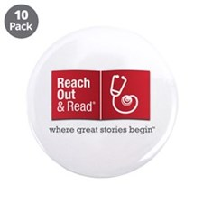 "Reach Out and Read with Gray Tagline 3.5"" Button ("