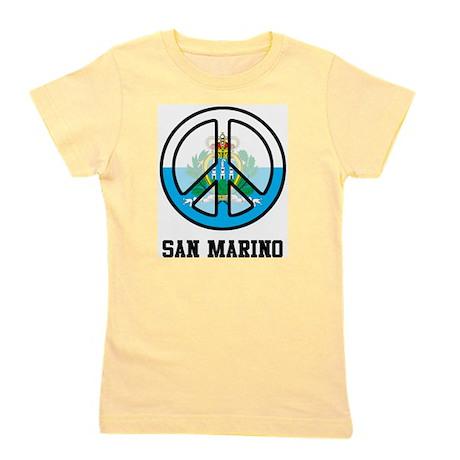 Peace In San Marino Girl's Tee