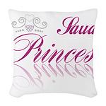 Saudi Princess Woven Throw Pillow