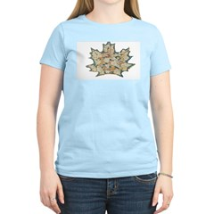Leaf Carving Women's Pink T-Shirt
