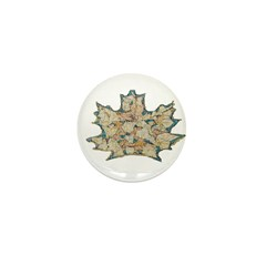 Leaf Carving Mini Button (100 pack)